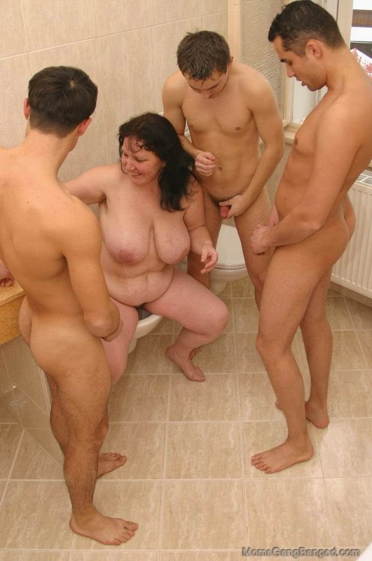 image Fat whore goes crazy sucking on an hard