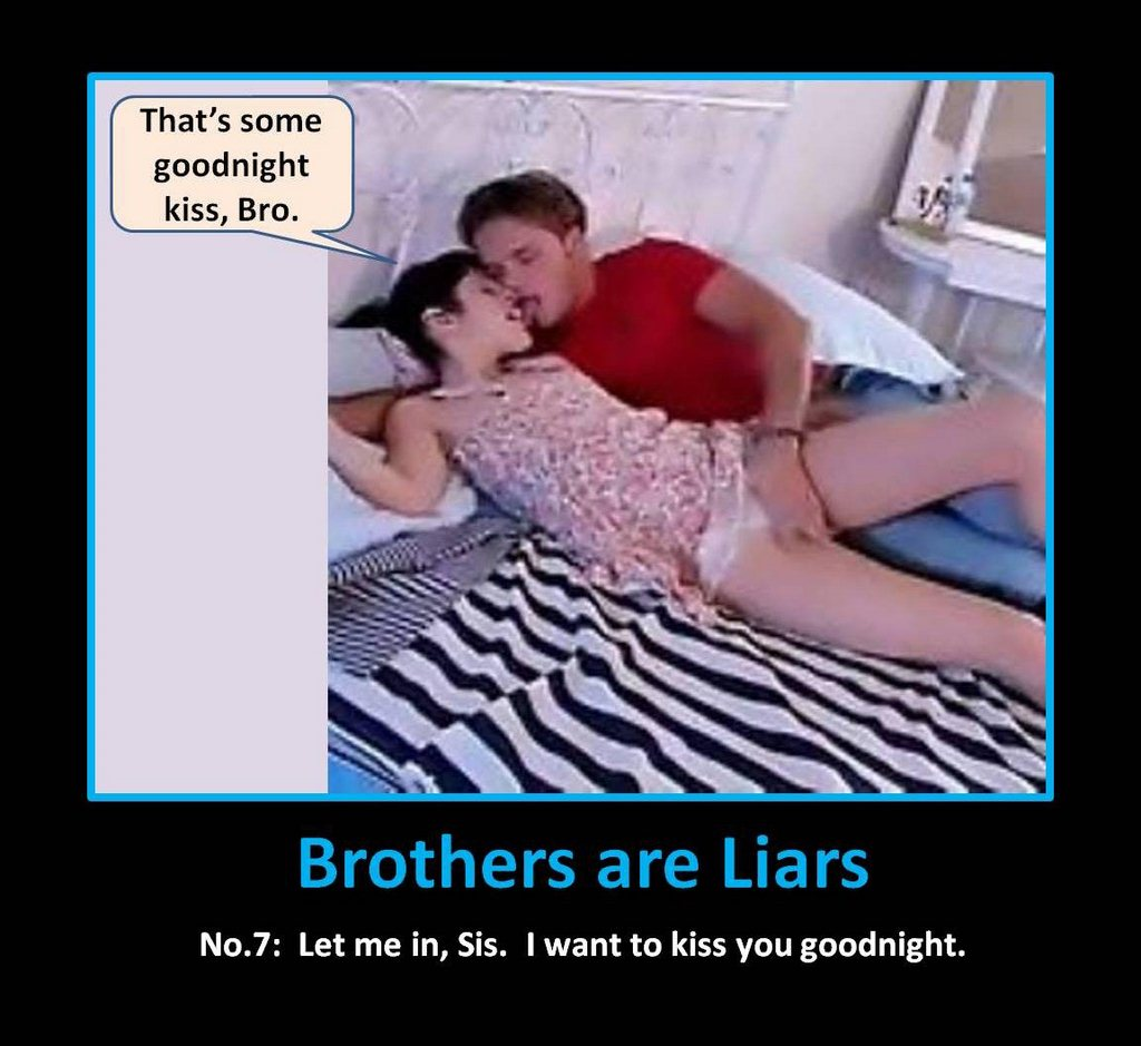 Pretty sister and her brother enjoy having real incest sex!